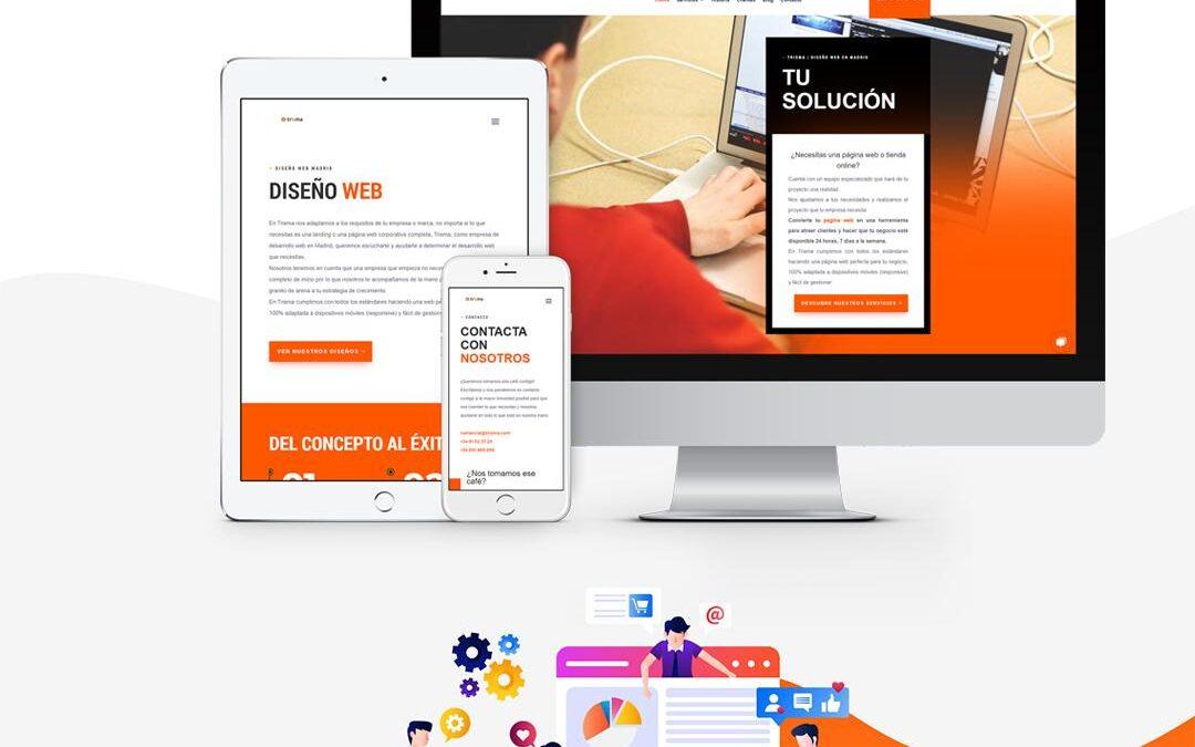 El nuevo diseño de la página web de Trixma
